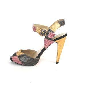 CHARLES DAVID Women's Snakeskin Heels Sz 7.5